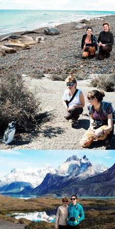 Anna Doshina et Olga Khroesjtsj en Patagonie