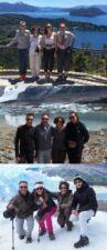 Camille, Hervé, Laure et Samuel Durand en Patagonie
