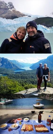 Sylvie Grincourt et Stéphane Palignac en Patagonie