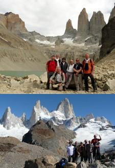 Le groupe Guy Rousseau (x7) en Patagonie