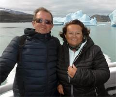 Claude et Alain Mougenot en Patagonie et à Iguazu