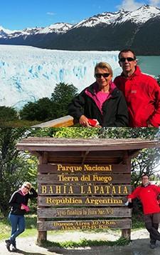 Agnès et François Lucas en Patagonie