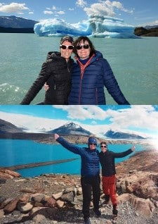 Corinne Paoletti et Catherine Coyette en Patagonie