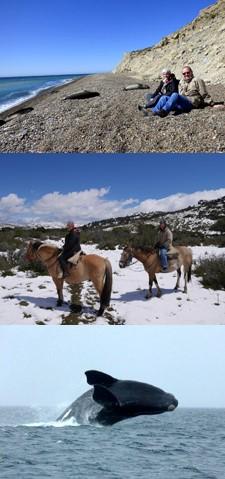 Sylvie Roinsolle et Jean-Pierre Etcheverry en Patagonie