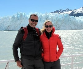 Sandrine Taillard et Emmanuel Bourgeais en Patagonie