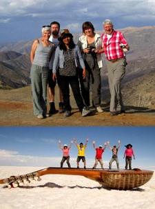 Isabelle et Odile Conan, Régis Royer et Franciscus Lelieveld au Pérou, en Bolivie et au Chili