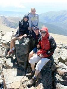 La famille Preud'homme : Vanessa, Pascal, Noéline et Cyril en Patagonie argentine