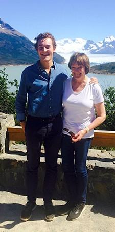 Gaspard Hambuckers et Brigitte Desaive en Patagonie