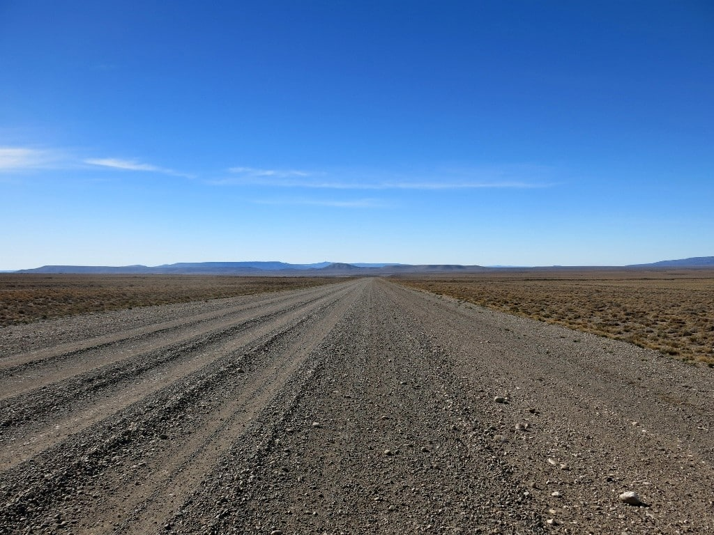 Pista en ruta 40, Patagonia argentin