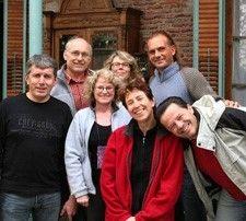 Martine et Patrick Rayet, Annie et Michel Bondu, Chantal et Daniel Vergnes en Argentine