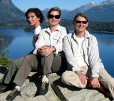 Marie-Louise Blanc, Martine Gagnage et Sophie Delmas en Patagonie Argentine