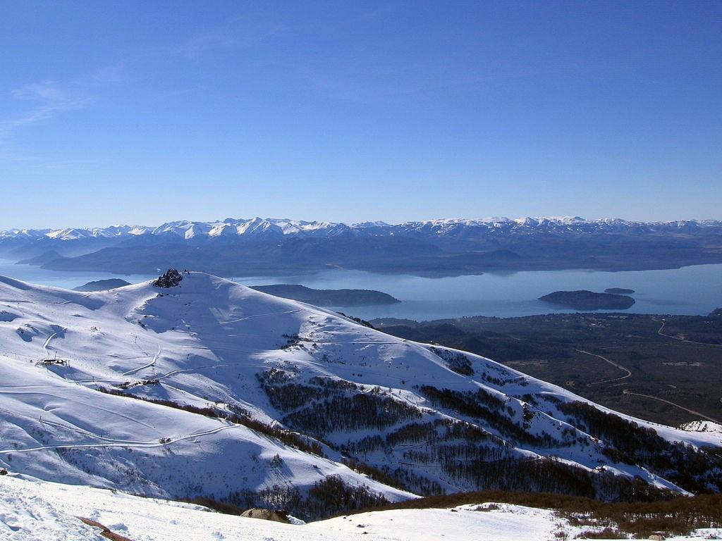 Vues depuis les pistes de ski à Cerro Catedral Bariloche
