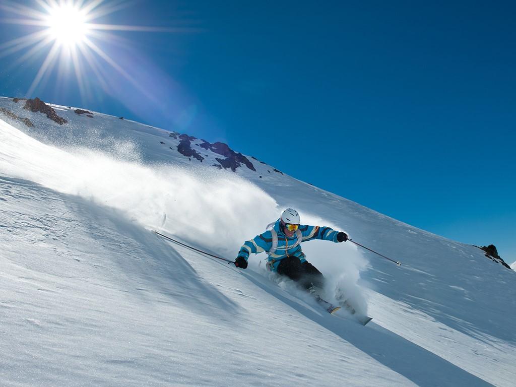 Skier à La Hoya Chubut Argentine