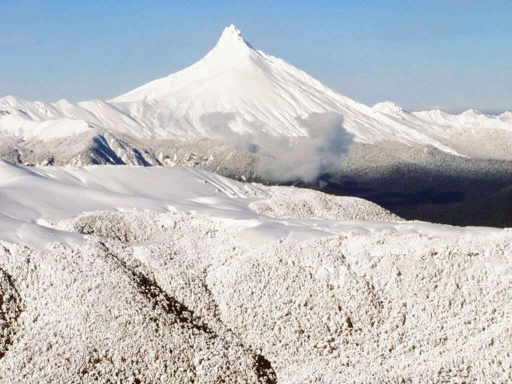 Ski sur les volcans d'Antillanca au Chili