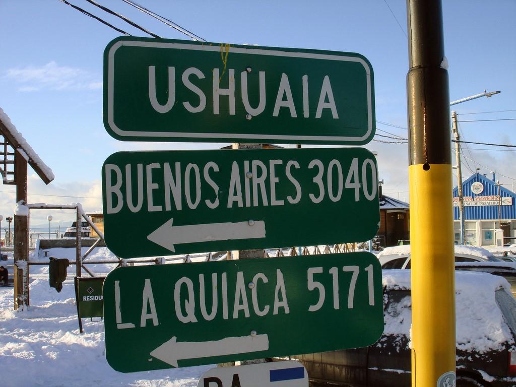 Skier à Ushuaïa
