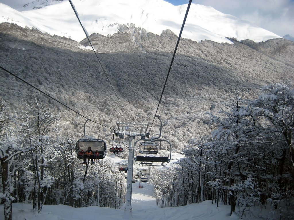 Télésièges de la Station de ski Cerro Castor à Ushuaïa