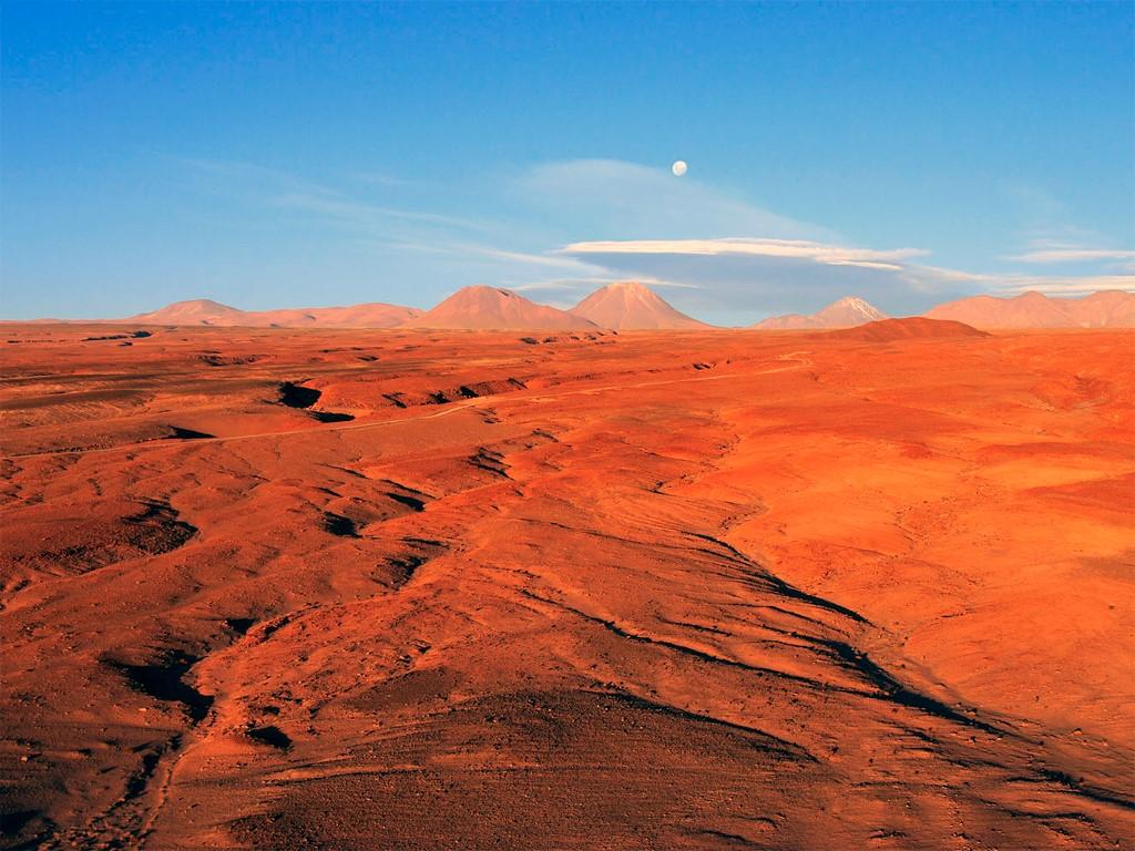 Le désert d'Atacama vu du ciel
