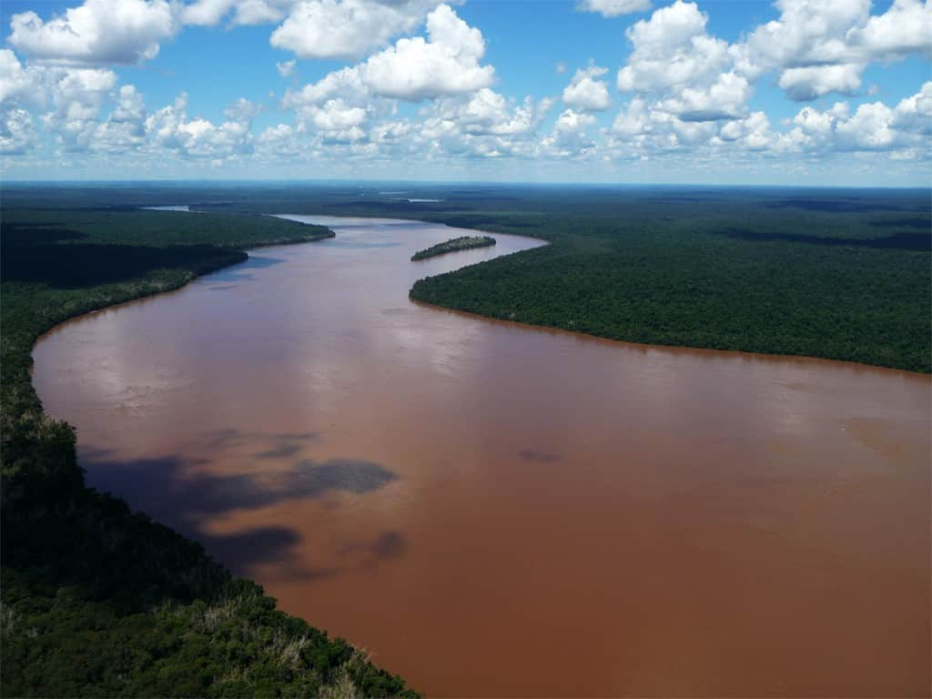 Fleuves Iguazu et Parana en hélicoptère