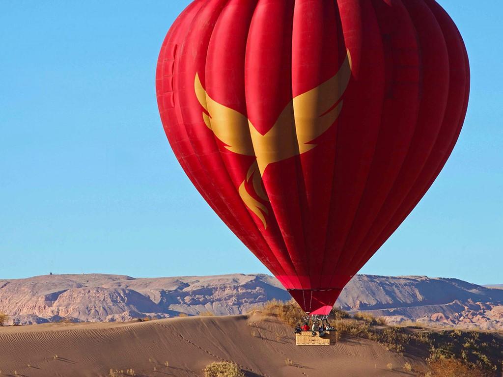 L'Atacama vu depuis les airs en montgolfière