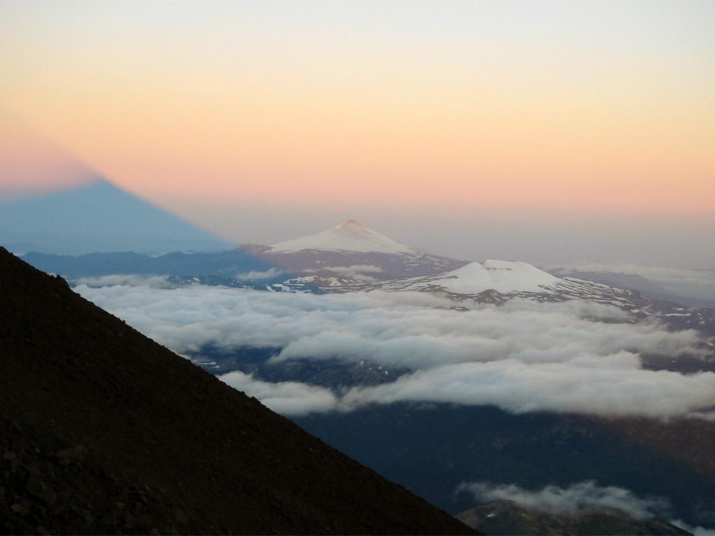 Au-dessus des volcans andins