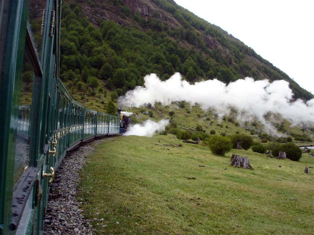 Ferrocarril austral en la estación del fin del mundo