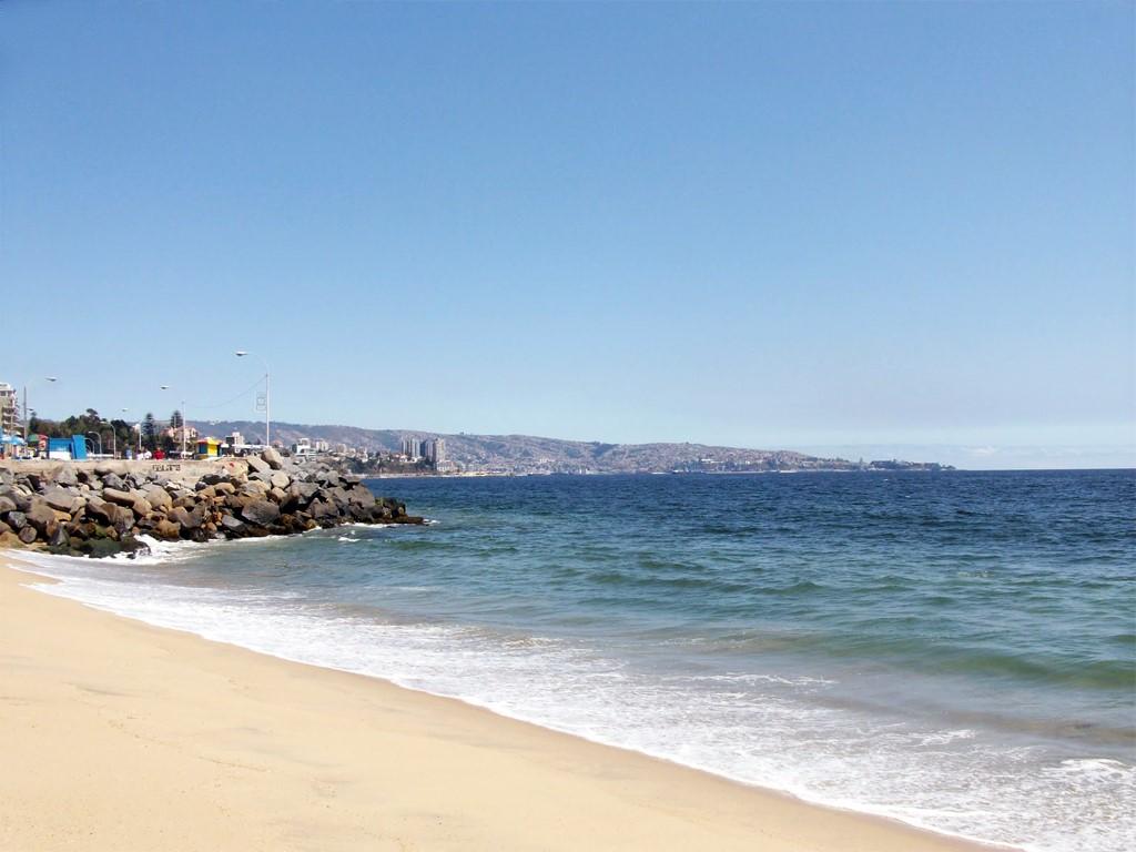 Plage Viña del Mar à Valparaiso