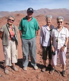 Dany Terren, Catherine Aguirre, Colette Verdy et Jean-Baptiste Montesquieut en Argentine, au Chili et en Bolivie