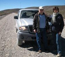 Geneviève Streel et Charles Hernalsteen en Patagonie Argentine
