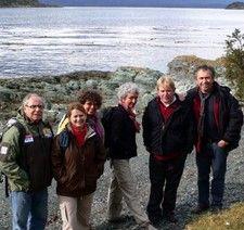 Patricia et François Monnetreau, Chantal et Franck Hakoun, Michèle et Philippe Vételé au Sud de la Patagonie Argentine